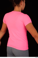 Zahara dressed pink t shirt sports upper body 0007.jpg